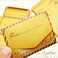 Wholesale 50 set Mini Retro Vintage Kraft Paper Envelopes Cute Cartoon Kawaii Paper Korean Stationery Gift A5