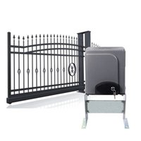automatic gate - Automatic Sliding Gate Opener Hardware with x Wireless Remotes for Sliding Gates Driveway Security Gate Door Motor