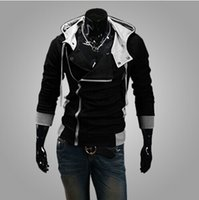 Wholesale Mens Hooded Jacket Men Hooded Slim hat Design Hoodies Sweatshirts New Assassin s Creed Desmond Miles Hoodie Top Coat Jacket Cosplay Costum