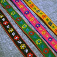 Wholesale 1cm narrower version of the four color lovely flower ethnic ribbon lace garment accessories curtain fabric ribbon with handmade diy