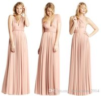 Cheap New Style Pink Chiffon Designer Bridesmaid Dresses Halter Bridal Floor Length Ruched A-Line Dress Custom Made Plus Size 2015 Hot