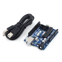 Wholesale 1pcs UNO R3 ATmega328P ATmega16U2 Compatible Version Board Free USB Cable Drop Shipping