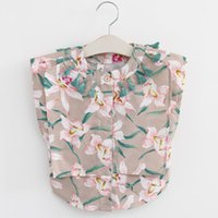 Wholesale Baby Girl Blouse Fashion Kids Girls Floral Print Shirts Babies Tassel Tops Girls Wear Children Clothing Years