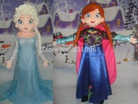 Wholesale Real Pictures The Movie Elsa Mascot Costume Adult Size Fancy Dress Cartoon Costumes EMS
