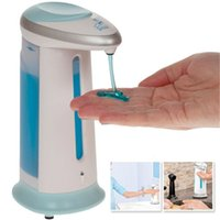 Wholesale Brand New High Quality ABS Bathroom Kitchen Soap Magic Hands Free Soap Sanitizer Dispenser With Logo Packing