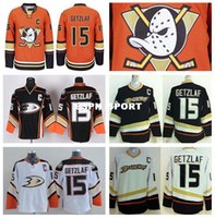 best quali - Factory Outlet Cheap Sale Ryan Getzlaf Ice Hockey Jerseys Anaheim Ducks Jersey Home Alternate Black Orange WHite Fashion Best High Quali