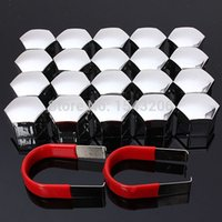 Wholesale 20pcs set mm Car Plastic Caps Bolts Covers Nuts Alloy Wheel Matt Protectors Chrome small order no tracking