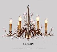 antique french chandeliers - Dia American Village Iron Crystal Chandelier French Antique Candelabra ustres de cristal Heads modern chandelier E14