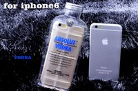 absolute crystal - Luxury Absolute Vodka Wine Beer Bottle Transparent Clear Soft TPU Silicon Crystal Case Cover For iPhone S S Plus iPhone6