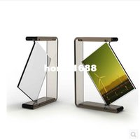 acrylic double photo frames - specials inch Angle rotating double green transparent acrylic photo frames for picture porta retrato