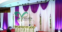 in many color you can choose best curtain designs - Wedding Backdrop Stage Curtains With Purple Swag Drape Best Quantity And New Designs