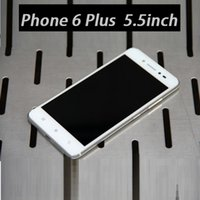 Wholesale Metal Goophone I6 Plus Phone inch Android KitKat MTK6582 Quad Core ROM G IOS Theme Simulation Touch ID Epacket