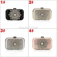 black sunflower - Fashion Women s Banquet Sunflowers Decoration Evening Purse Bridal Party Clutch Bag Handbag HB88