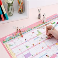 Wholesale Cute Hello Wall Calendar Daily Scheduler Table Planner Yearly Agenda Organizer Freeshipping small order no tracking