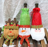 pails - AAAAA quality New Christmas Wine bags Santa Claus wine bag Christmas Wine Cover Red Wine Bags Santa Claus gift bag LJJD464