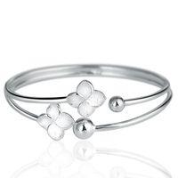 Wholesale S990 silver sakuranetin silver bracelet opening adjustable solid silver bracelet