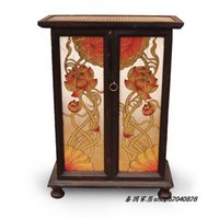 antique furniture paint - Thai crafts furniture Features TV cabinet entrance cabinet shoe cabinet Southeast Asian style painting on gold leaf