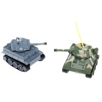 Wholesale Happycow CH Mhz RC Battle Tank Two Mini Fighting Tanks Remote Control Electric Toys With Light Kids Gift
