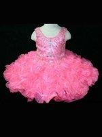 Robe de bal robe organza perlée enfants cristaux dentelle jusqu'à retour robe de robe de fille robe réel 2015 nouveau design