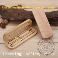 best art supplies - Best gift Double Pen Wooden ballpoint pen human bones ballpen school supplies office supplies home decoration kids gift reward