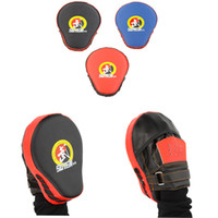 Wholesale 2 Boxing Gloves Punch Mitts MMA Karate Boxeo Taekwondo Sanda Muay Thai Leather Focus Mitts Training Target Boxing Pad order lt no track