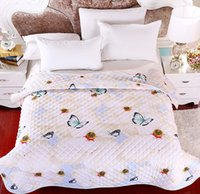 air condition comforter - new fashion trendy soft summer air condition cotton blanket cute girls comforter printed butterfly patchwork quilt