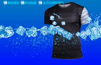 Wholesale quick dry D printing men cylcing tops cycling t shirt compression wear