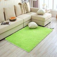 Wholesale Comfortable Long Plush Shaggy Soft Carpet Area Rug Slip Resistant Door Floor Bedroom Living Room Floor Suede Non slip Mat