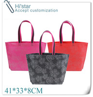 bamboo fabric - 41 CM Eco Reusable Shopping Bags Cloth Fabric Grocery Packing Recyclable Bag Design Healthy Tote Handbag functional bag