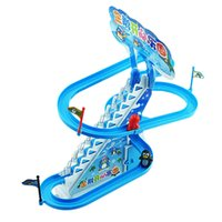 baby stairs - Kids Music Early Educational Toy Cartoon Penguin Stairs Track Toys K5BO