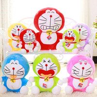 animal farm cat - Colourful Rainbow Doraemon Toy For Children Kids Toys cm Baby Toys Machine Cat Plush Hold Toy Doll Cat Fancy