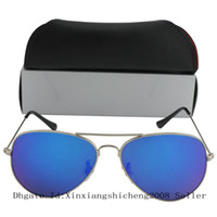 best clear coat - 60pcs Best quality Silver Frame Blue Colorful Coating MM Sunglasses Glasses Glass Lenses Eyewear For Men Women