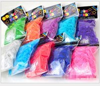 rubber band rainbow loom - 60bags Best Selling Rainbow Loom Kit DIY Wrist Bands rubber band Rainbow Loom Bracelet for kids bands C clips Colors