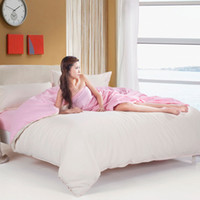 animal comforter set price - best price high quality cotton simple two color bedding set Bed bed Sheet Quilt Duvet Covers PillowCase Bedclothes Bed Linen size