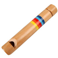 Wholesale Wooden Flute Slide Whistle Melody Children Kids Classic Musical Toy