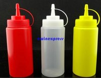 bbq condiment set - 3pcs set ml Plastic Oil Soy sauce Ketchup Squeeze Bottle Seasoning Bottle Condiment Dispenser BBQ salad kitchen tools