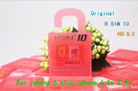 Wholesale 30 off Unlock Card R SIM RSIM R SIM directly used for iphone plus s c iOS6 X X WCDMA GSM CDMA DHL