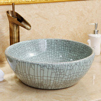 bathroom sink porcelain - Chinese pottery and porcelain basin Contracted ceramic basin bathroom sink on stage