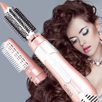 Wholesale DHL V Electric in Hair Dryer Brush Comb hair straightener roller brush electric hair brush escova de cabelo rotativa