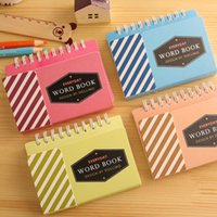 Wholesale hot sale simple style student mini planner loose leaf notebook color for choose