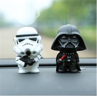 Wholesale Darth Vader the new Star Wars toys white cavalry Figure set PVC action figures assault DIY Car Decoration Toys