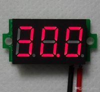 Wholesale 0 quot Super Mini LED Segment Displays Alarm Voltmeter DC V Volt Voltage Panel Meter battery monitor