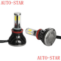 Wholesale All in one V V H11 W ML COB led car headlight with with Fan Play Plug for Automotives Headlight lamp