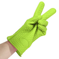 Wholesale 1PCS Kitchen Heat Resistant Silicone Glove Oven Pot Holder Baking BBQ Cook Mitts Gift For Wife and Children