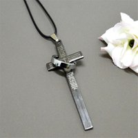 bible fasting - Large size titanium Bible Cross pendant necklace bang ring Scriptures necklaces Fast and Furios jewelry for men women Christmas gift