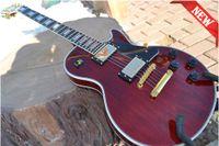 Wholesale 2015 New Custom Red Wine Color maple flat top ebony fingerboard Electric Guitar