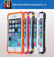 aluminum vapor - Hot Sales Metal Aluminum Bumper Element Frame Case Vapor Sector Armor Heavy Duty Shockproof Phone Case Cover for iPhone s
