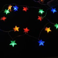 beaded string lights - LED holiday lights flashing lights string lights starry Halloween beaded light pentagram light string Christmas lights