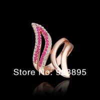 angle bar sizes - FG Size New Arrival K Rose Gold Plated Tin Alloy Color Angle Wing Ring