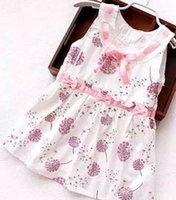 Wholesale 2015 summer new floral girls dresses children s cotton floral dress girls vest skirt two colors six